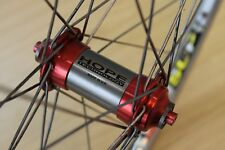 "Hope XC Red Hub Front Wheel Mavic 217 Rim Retro 32 Hole 26"" Mountain Bike 26er"