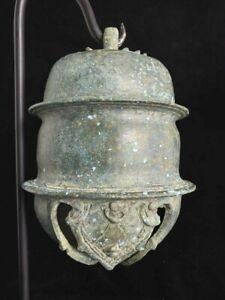 Very rare huge heavy ancient Khmer Angkor Wat bronze elephant bell 12th c