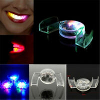 LED Light up Flashing Mouth Piece Glow Teeth Toys For Halloween Party Rave Event