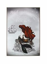 DISNEY OFFICIAL PRINCESS ARIEL THE LITTLE MERMAID TRUE LOVE QUOTE WOOD WALL ART