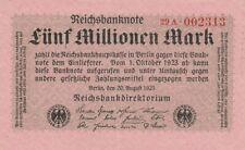* Ro. 104b - 5 millones de marcos-Deutsches Reich - 1923-Fz: a *