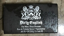 3 PACK DIRTY ENGLISH by JUICY COUTURE for MEN 0.05 oz (1.5 ml) EACH