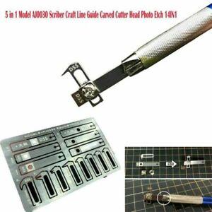 14IN1 Alexen AJ0030 Model Scriber Craft Line Guide Carved Cutter Head Photo Etch