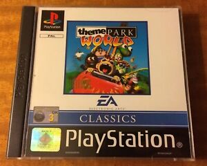 Theme Park World. Playstation 1. PS1. Mint Condition. Unplayed.