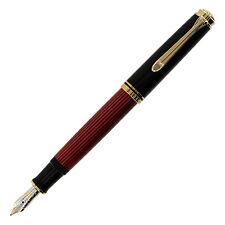 Pelikan Souveran M600 Black/Red Fountain Pen Broad Nib