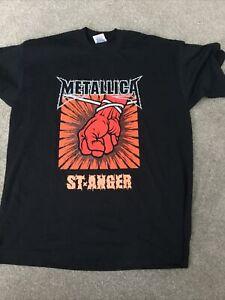 METALLICA ST ANGER 2004 TOUR T SHIRT XL  VINTAGE ROCK METAL REAR PRINT