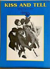 "Breakfast Club ""Kiss and Tell"" - original rare Sheet Music 1987"