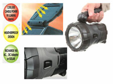 NEW RECHARGEABLE 12V AC SOLAR HIGH POWER LED SPOTLIGHT TORCH LIGHT CAMPING