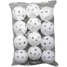 Champion Sports Dozen Wiffle Balls in Package Practice Sports Baseball Plastic