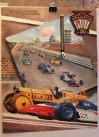 INDY 500 COLLECTORS POSTER 1997 LIMITED REPRO OF PROGRAM COVER CASTLE