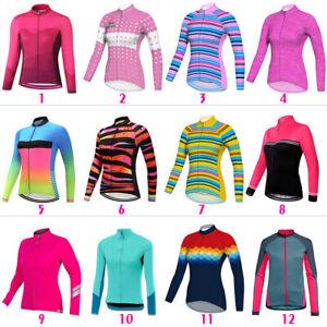 Women Long Cycling Jersey MTB Bike Motocross Mountain Ride Cycle Shirt Top Coat