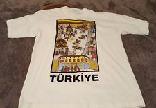 Turkiye Turkey Vintage Tee Shirt Ottoman Empire Print Size Large Short Sleeve T