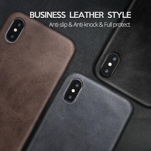 Luxury Premium TPU Leather Back Phone Case Cover iPhone 11 11 Pro SE 2020