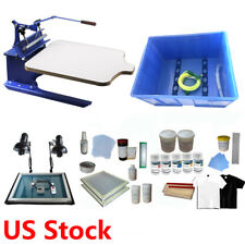 1 Color Screen Printing Kit t shirt Press Printer with Exposure Unit Ink Tools