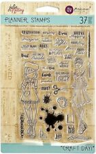 Craft Day Julie Nutting Planner Stamps 911683 by Prima Clear Stamp Set NEW!