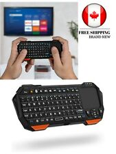 Portable Lightweight Mini Wireless Bluetooth Keyboard Controller Black & Orange