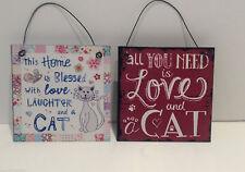 Cat Metal Vintage/Retro Decorative Indoor Signs/Plaques