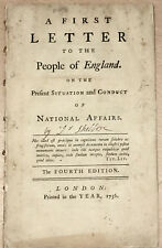 John Shebbeare  First Letter to Sixth Letter... to the People of England... 1757
