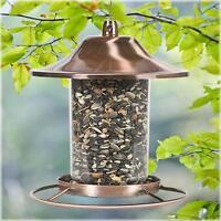Copper Squirrel Proof Hanging Wild Bird Feeder Outdoor Garden Backyard Ornament