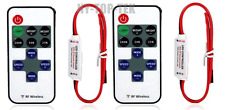 2X 12V Wire RF Wireless Remote Switch Controller Dimmer For Mini LED Strip Light