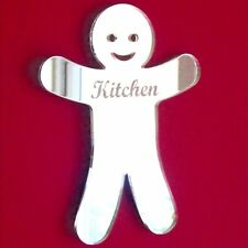 Gingerbread Man Kitchen Door Sign Acrylic Mirror (Several Sizes Available)