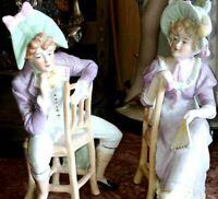 Antique French Porcelain Couple Figurines.