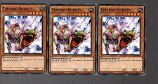 Yugioh Cards - Playset Of 3x Tyranno Infinity SR04-EN009 1st Edition
