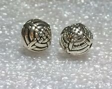 THAI .925 STERLING SILVER VINTAGE 10mm ROUND WEAVED FOCAL BEAD #920 - (1)