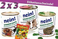 6erSet -Konserven Überraschung Geschenkidee Dosen Blechdose Spinne Frosch Maus