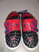 Marvel Spider-Man Kids Casual Low Top Sneakers Velcro Closure NEW W TAGS size 13