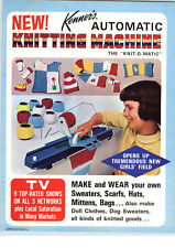 1966 PAPER AD 4 PG Automatic Knitting Machine Yarn Kits Kenner Toy