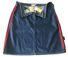 Boden Ladies Denim Skirt With Blue/Red Side Stripe Size 14R BNWT