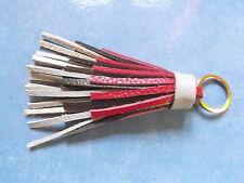 Schlüsselanhänger Taschenschmuck Bommel 100% Leder mehrfarbig 13,5 cm