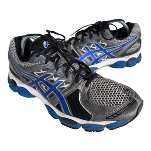 Asics Gel Nimbus 14 Mens Size 10.5 Gray Blue Athletic Running Shoes Sneakers