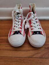American Flag High Top Athletic Sneakers