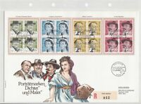 Switzerland Large Prestige 1990 Painters Registered FDC Stamps Cover Ref 26278