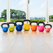 METIS Neoprene Cast Iron Kettlebells | 9-44LBS FREE WEIGHTS Fitness Gym Workout