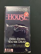 House VHS Horror Comedy New World Pictures