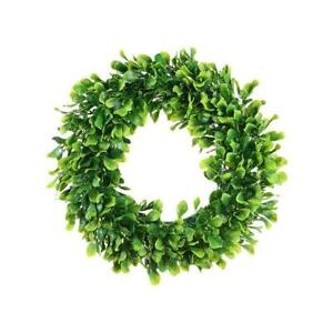 "Green Boxwood Door Wreath for Holiday, Crafts,or Decor Measures 15"" Plus"