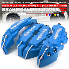 3D Universal Style Disc Brake Caliper Cover front & rear 4 pcs Blue L+M WL03