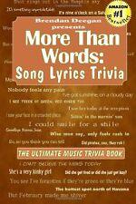 More Than Words: Song Lyrics Trivia