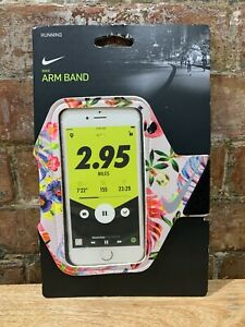 NEW! Nike Running Phone Pocket Arm Band Floral- Fits Most Cell Phones
