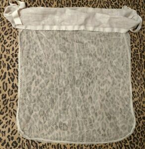Laundry Hamper Replacement Liner With Drawstring and Handles Off White Netted