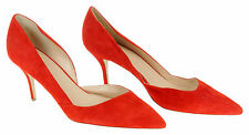 J Crew Colette Suede D'Orsay Pumps E0795 $248 California Poppy Red New Size 12