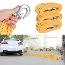 Pro Heavy Duty Self-Rescue Car Tow Rope Strap Belt Nylon Strong Hook ME