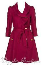 Women's Outdoor Wool Blend Button Full Length Coats & Jackets