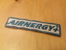 Biathlon Aufnäher Patch AIRNERGY Schriftzug 8 x 2 cm grün gebraucht Sponsor