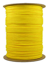 Yellow - 550 Paracord Rope 7 strand Parachute Cord - 1000 Foot Spool