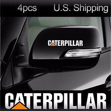 4 CATERPILLAR Stickers Decals Wing Mirror Wheels Door Handle Truck CAT WHITE