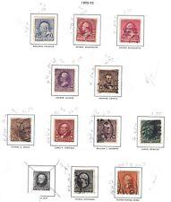 US STAMPS 1890-93 SCOTT 219-226 228 229 USED UNUSED HINGED